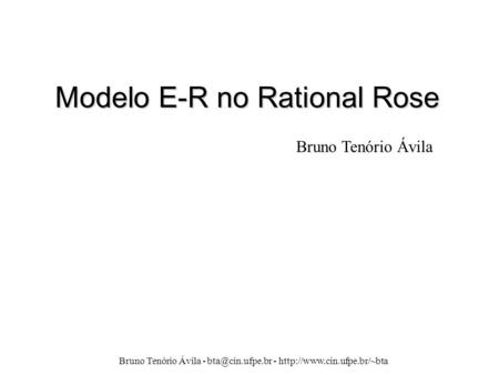 Modelo E-R no Rational Rose