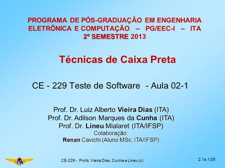CE Teste de Software - Aula 02-1