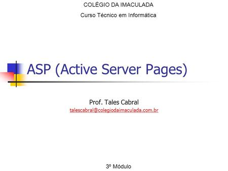 ASP (Active Server Pages)