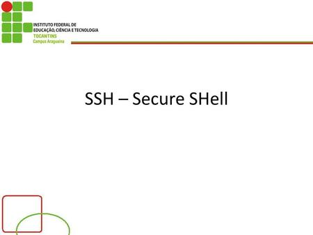 SSH – Secure SHell.