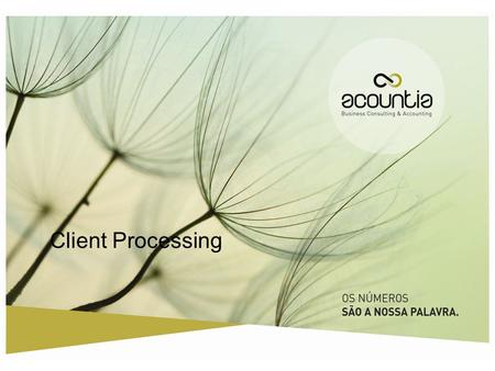 Client Processing 1.2/2012.