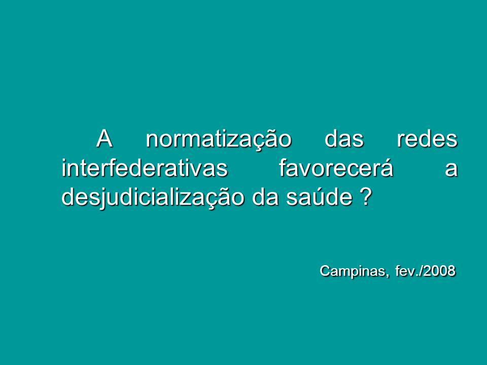 SEMINÁRIO IDISA FEV-2008 MARCO ANTÔNIO TEIXEIRA Parâmetros atuais da judicialização.