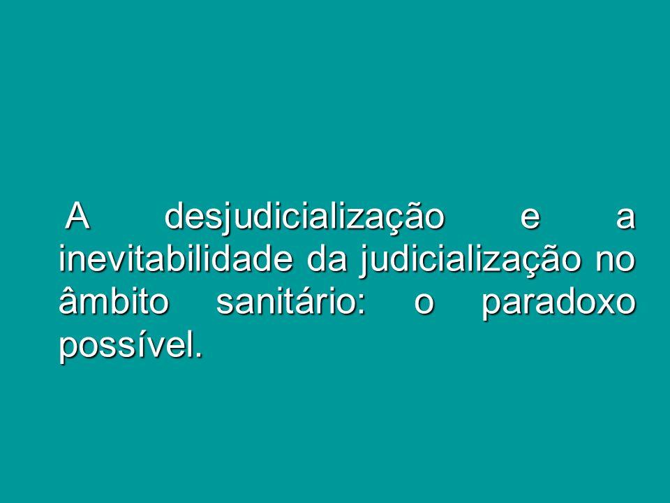 Parâmetros atuais da judicialização Parâmetros atuais da judicialização i) a lei não excluirá da apreciação do Poder Judiciário lesão ou ameaça a direito (art.