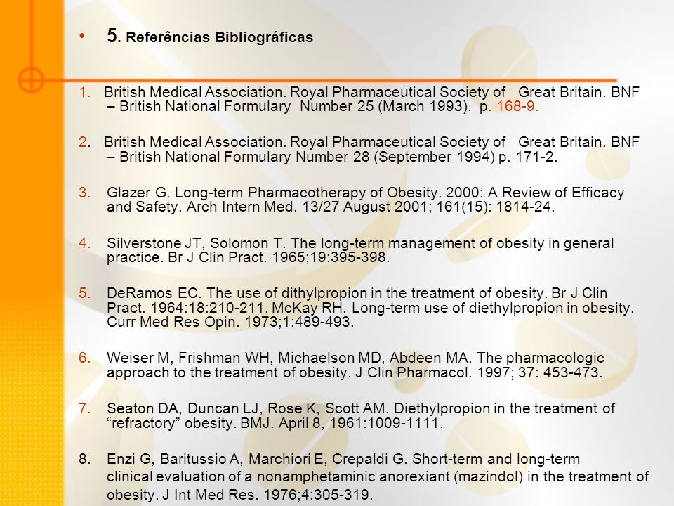 9.Inou S. Clinical studies with mazindol. Obes Res.