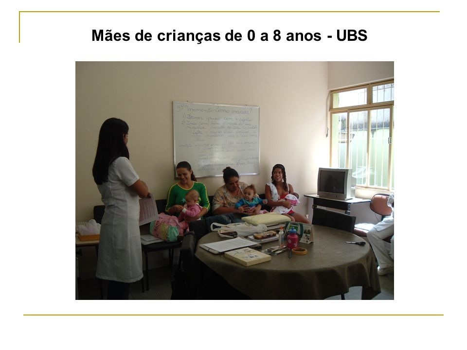 Mães de crianças de 0 a 8 anos - UBS