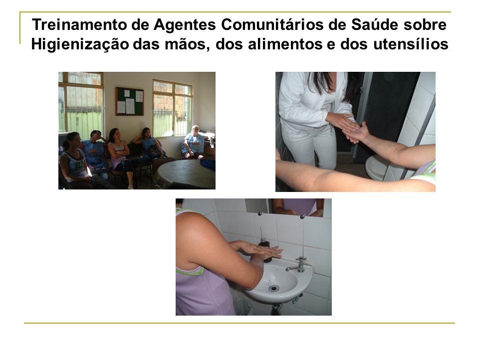 Treinamento de Agentes Comunitários de Saúde sobre Higienização das mãos, dos alimentos e dos utensílios