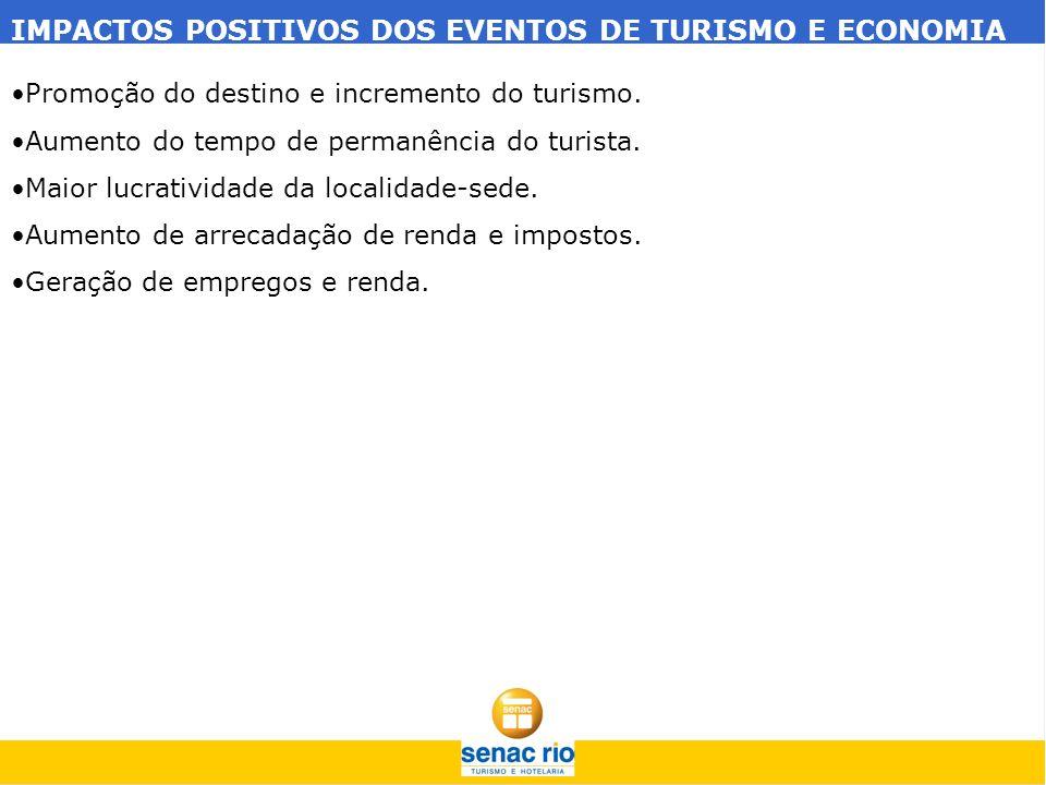 IMPACTOS NEGATIVOS DOS EVENTOS DE TURISMO E ECONOMIA Resistência da comunidade ao turismo.