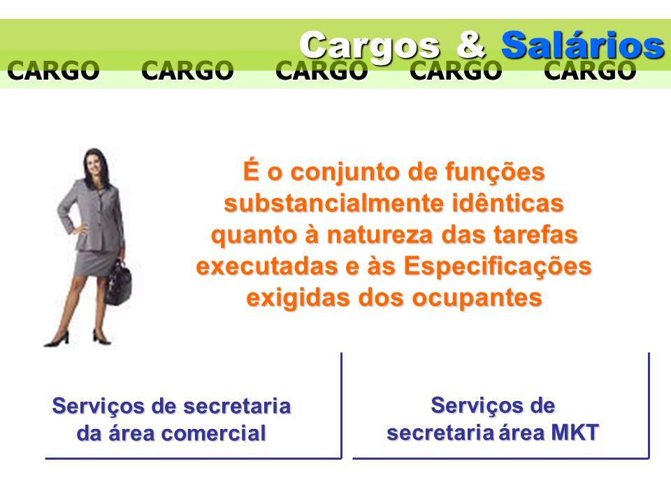 Cargos & Salários A atividade de Cargos & Salários: A atividade de cargos cuida da análise e avaliação de cargos.