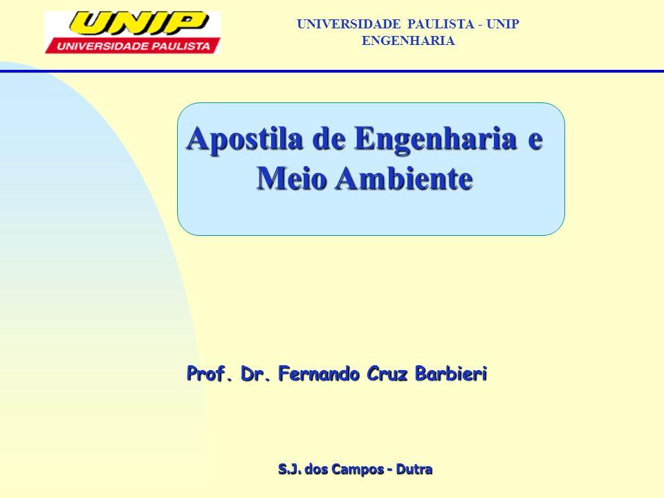 S.J. dos Campos UNIVERSIDADE PAULISTA - UNIP ENGENHARIA Balanço de massa e energia
