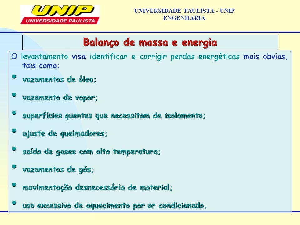 Um exemplo típico de balanço de energia aplicado a um equipamento da empresa é o balanço para melhoria do desempenho de caldeiras.