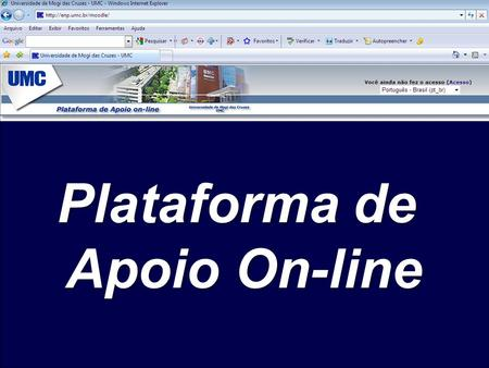 Plataforma de Apoio On-line.