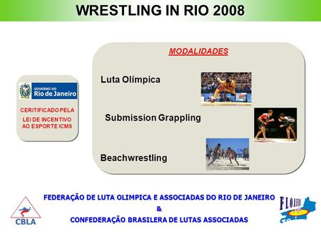 WRESTLING IN RIO 2008 Luta Olímpica Submission Grappling