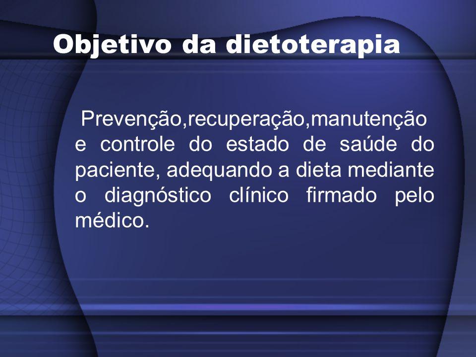 Objetivos Específicos Adequar a dieta à capacidade do paciente de ingerir, deglutir e tolerar o alimento; Metabolizar os nutrientes; Contribuir para compensar estados específicos e deficiências nutricionais;