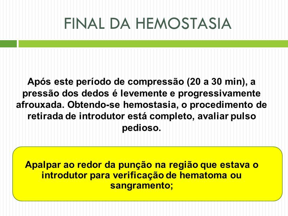 FINAL DA HEMOSTASIA