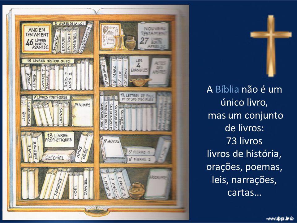 A Bíblia não é um único livro, mas um conjunto de livros: 73 livros