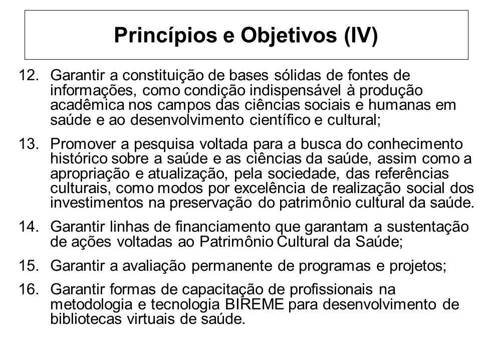 Princípios e Objetivos (IV)
