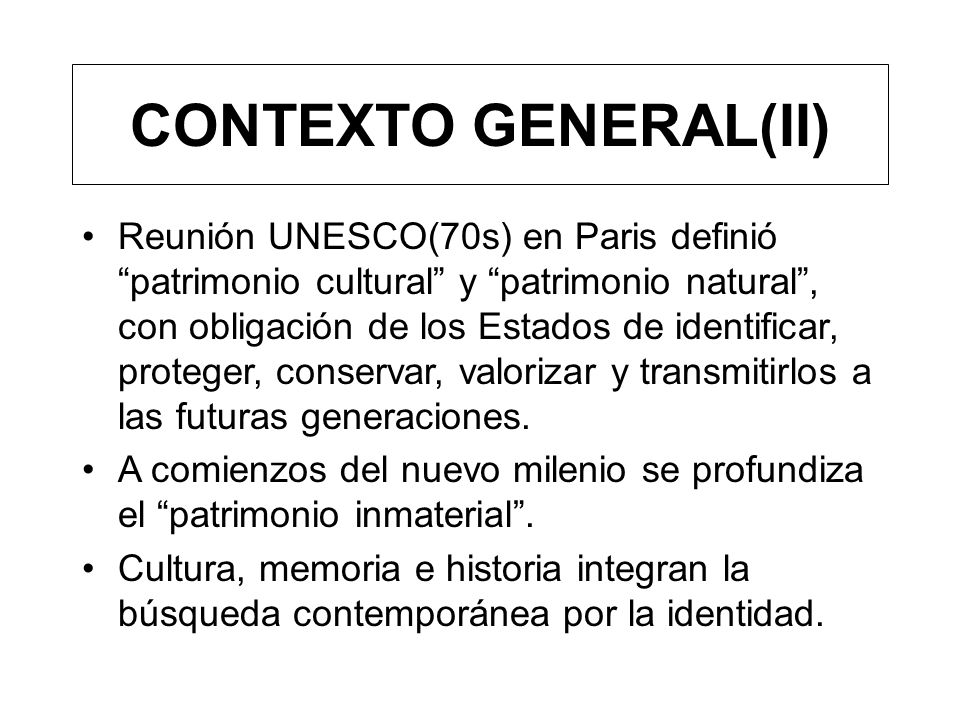 CONTEXTO GENERAL(II)