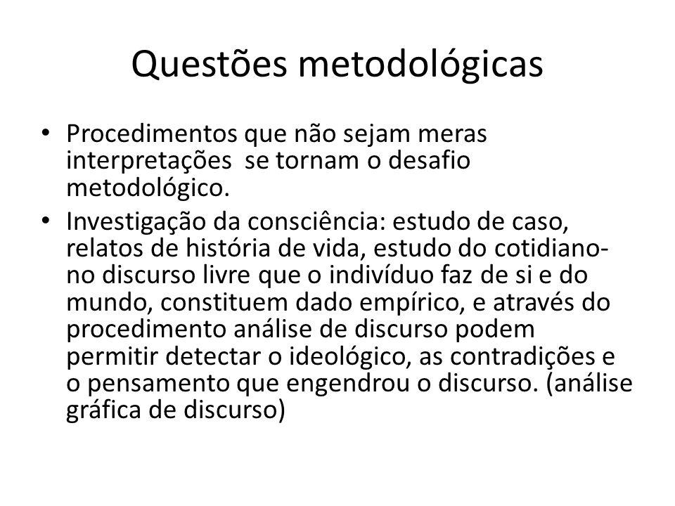 Questões metodológicas