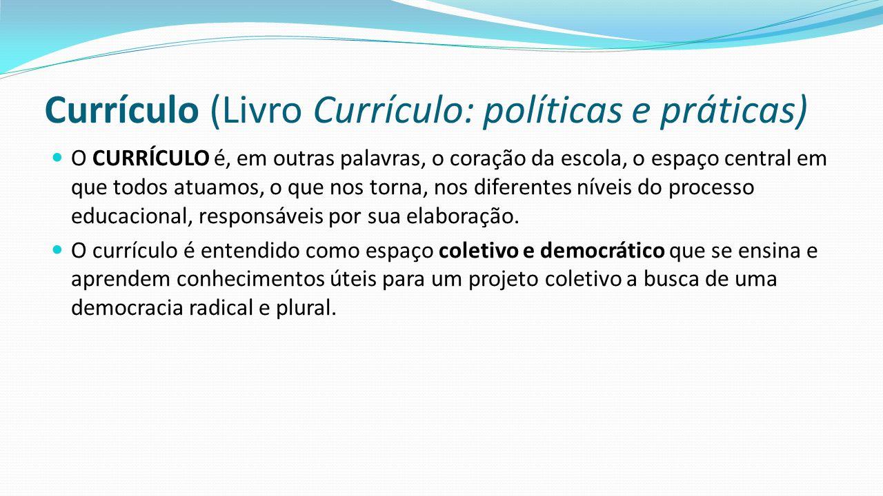 Currículo (Livro Currículo: políticas e práticas)