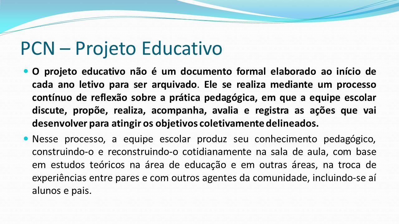 PCN – Projeto Educativo