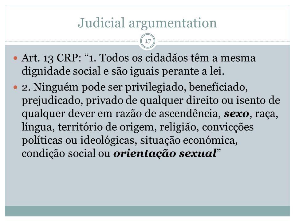 Judicial argumentation