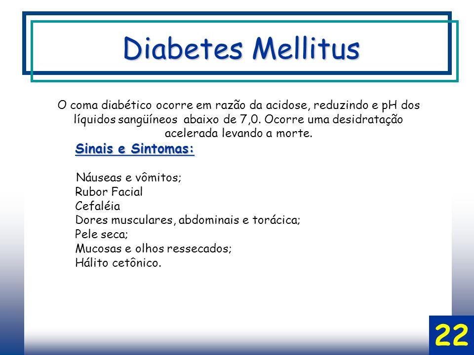 Diabetes Mellitus 22 Sinais e Sintomas: