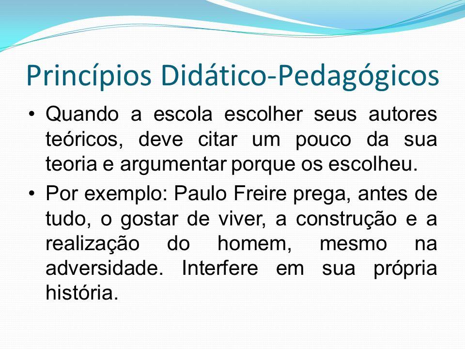 Princípios Didático-Pedagógicos
