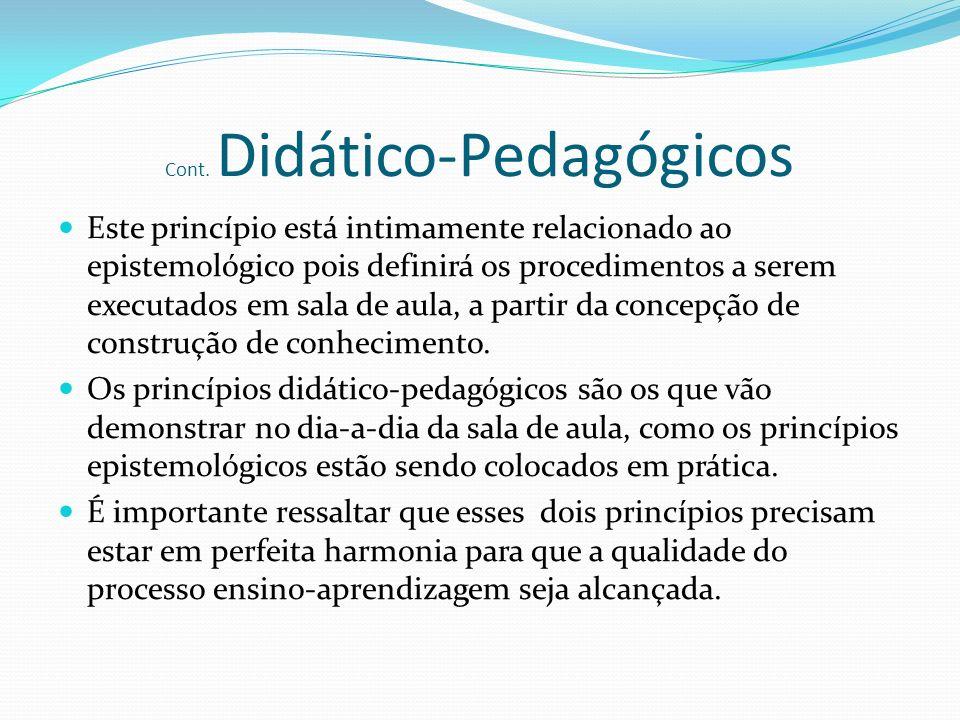 Cont. Didático-Pedagógicos
