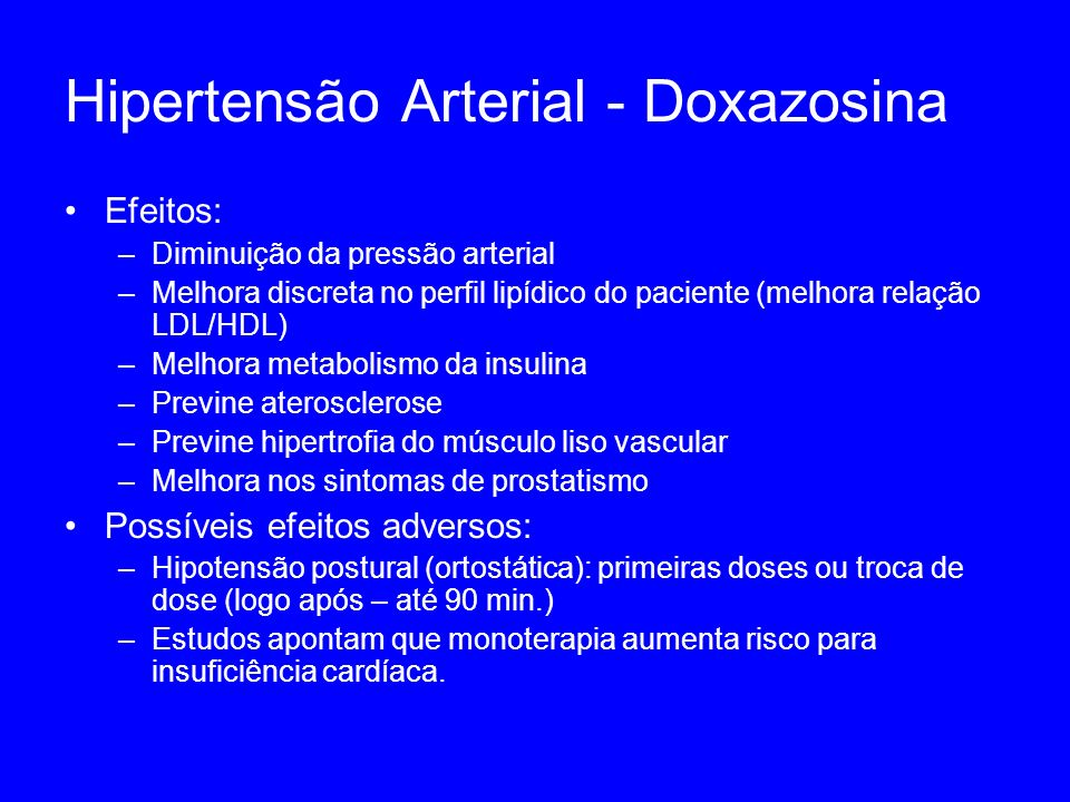 Hipertensão Arterial - Doxazosina