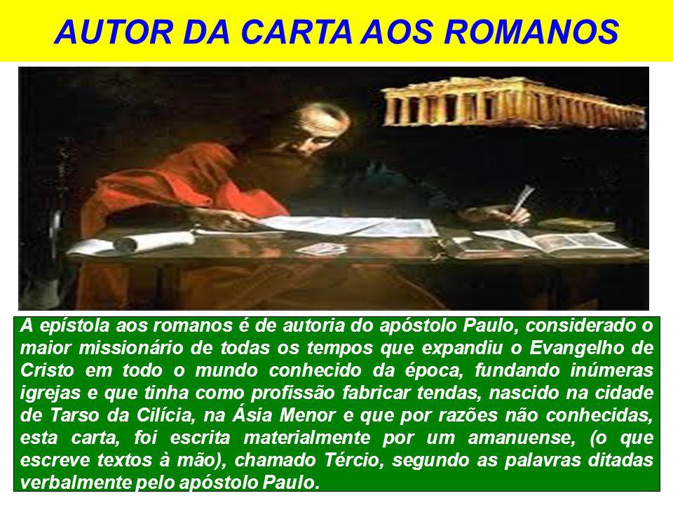 AUTOR DA CARTA AOS ROMANOS