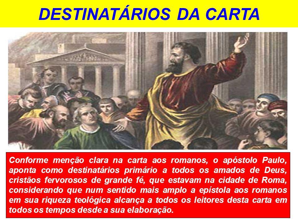 DESTINATÁRIOS DA CARTA