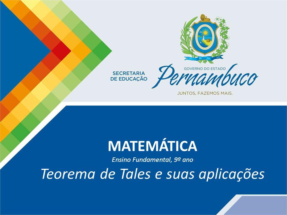 Teorema de Tales e suas aplicações