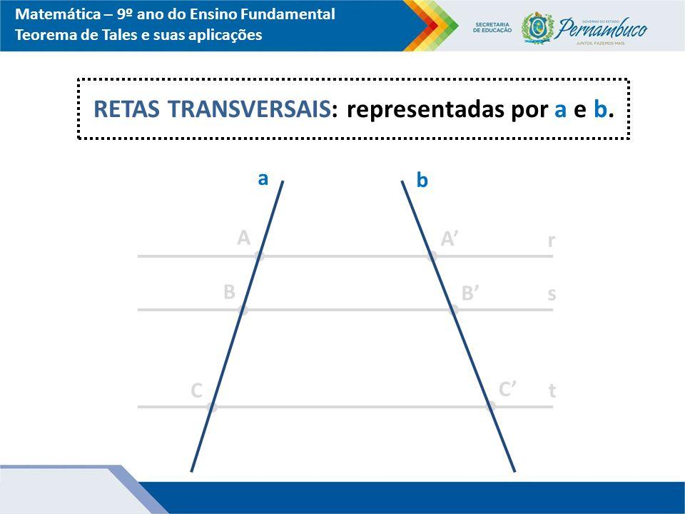 RETAS TRANSVERSAIS: representadas por a e b.