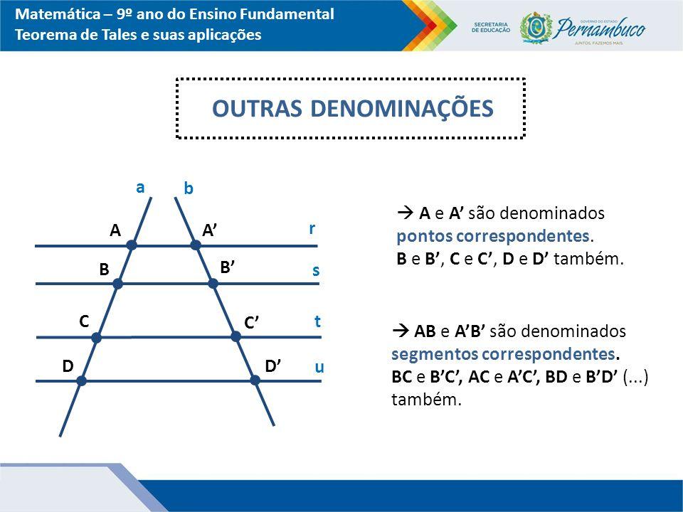 OUTRAS DENOMINAÇÕES a b