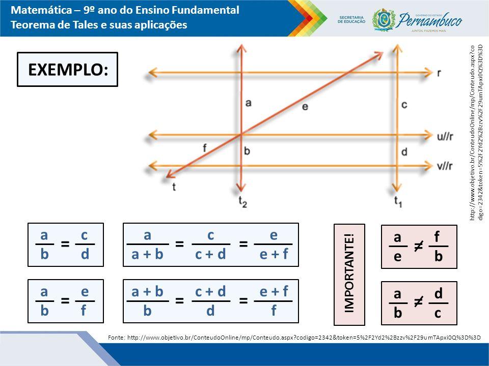 EXEMPLO: = = = = = = = = a b c d a a + b c c + d e e + f a e f b a b e