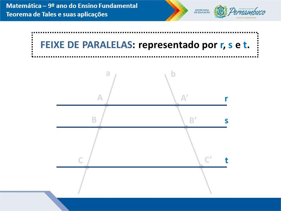 FEIXE DE PARALELAS: representado por r, s e t.