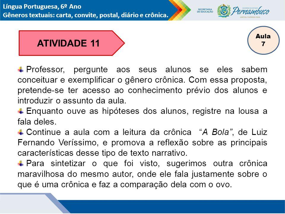 Língua Portuguesa, 6º Ano