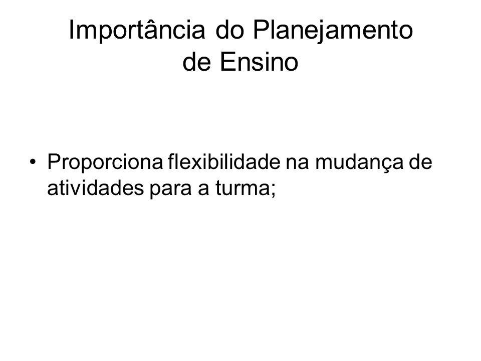 Importância do Planejamento de Ensino