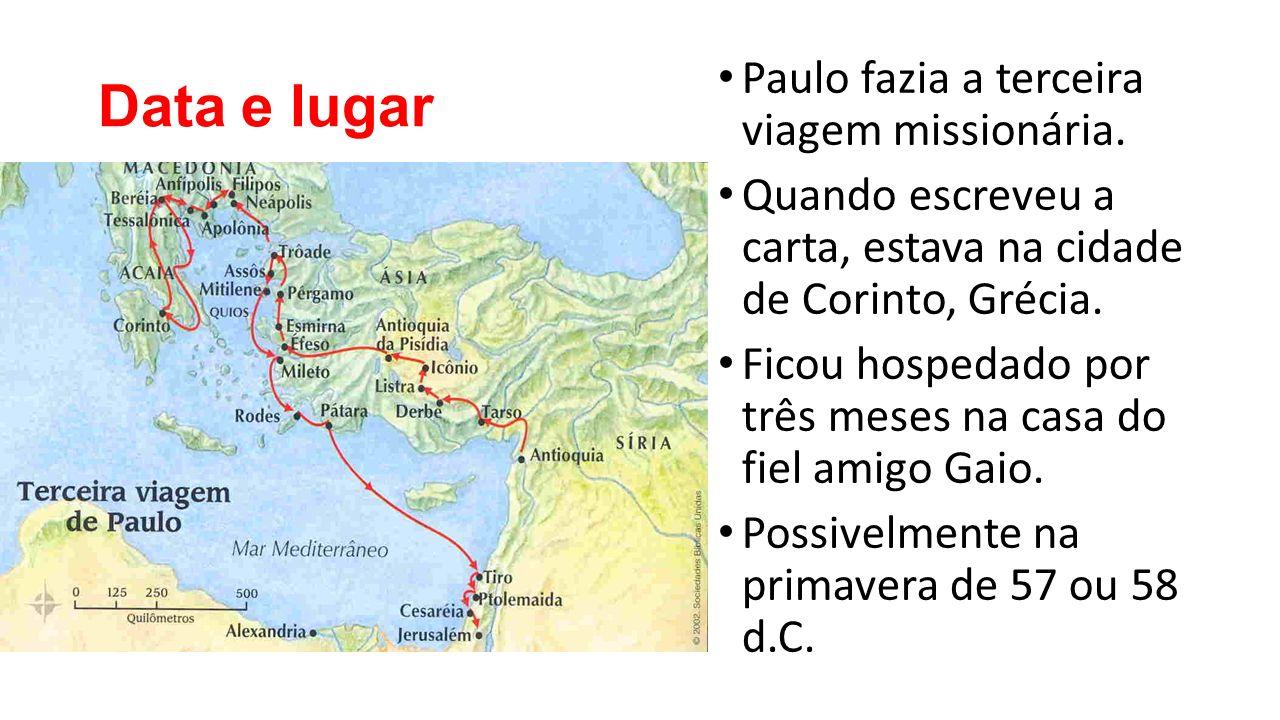 Data e lugar Paulo fazia a terceira viagem missionária.