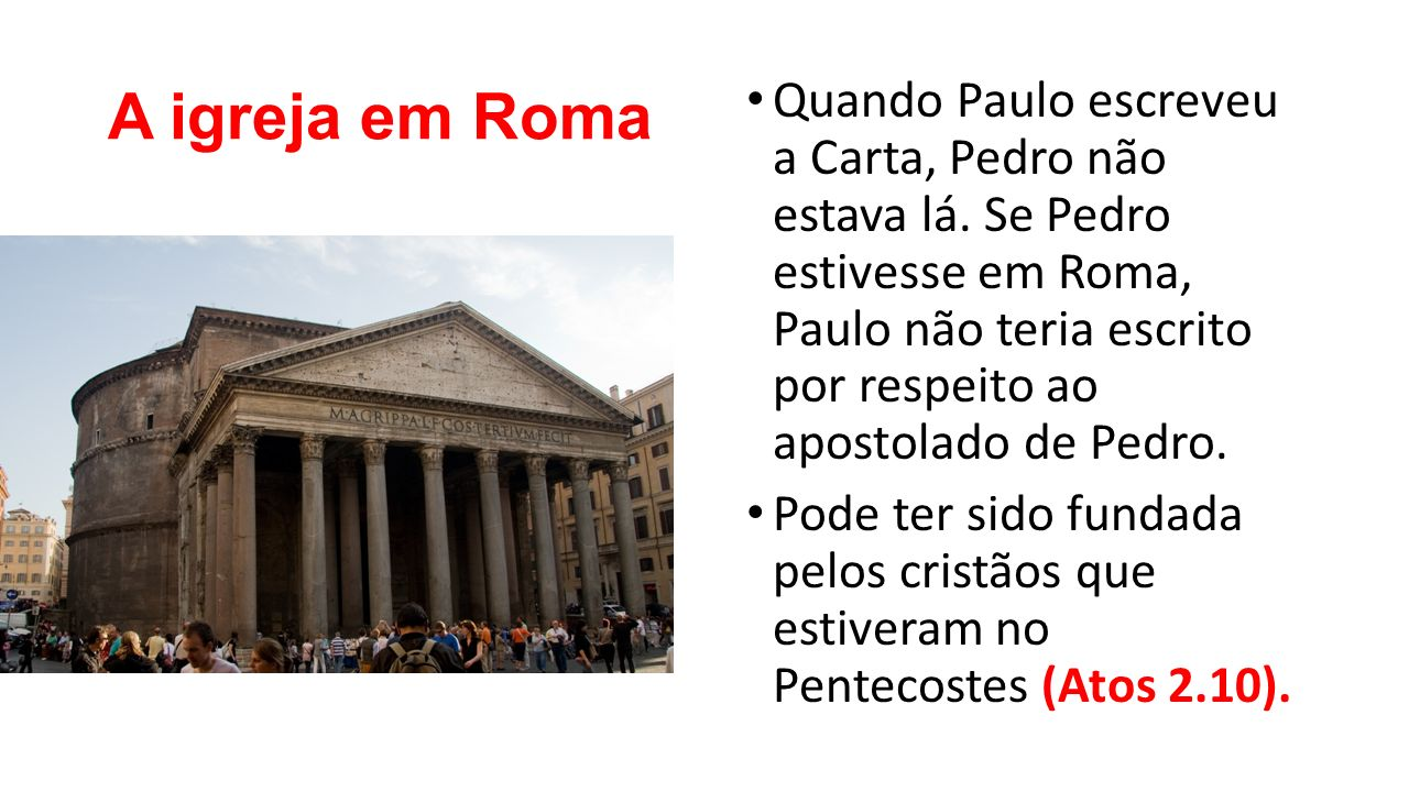 A igreja em Roma
