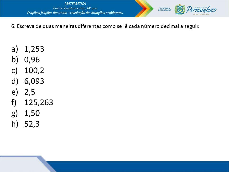 Muito MATEMÁTICA Ensino Fundamental , 6º ano - ppt video online carregar NM51