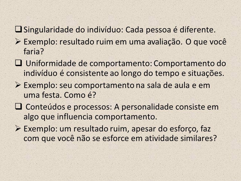 Singularidade do indivíduo: Cada pessoa é diferente.