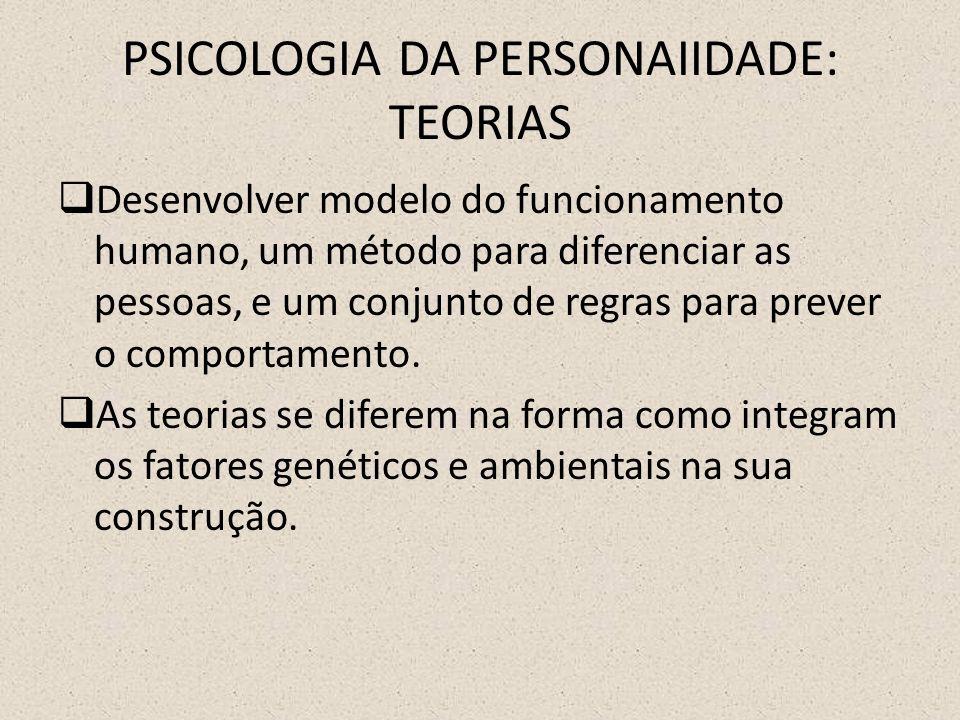 PSICOLOGIA DA PERSONAIIDADE: TEORIAS