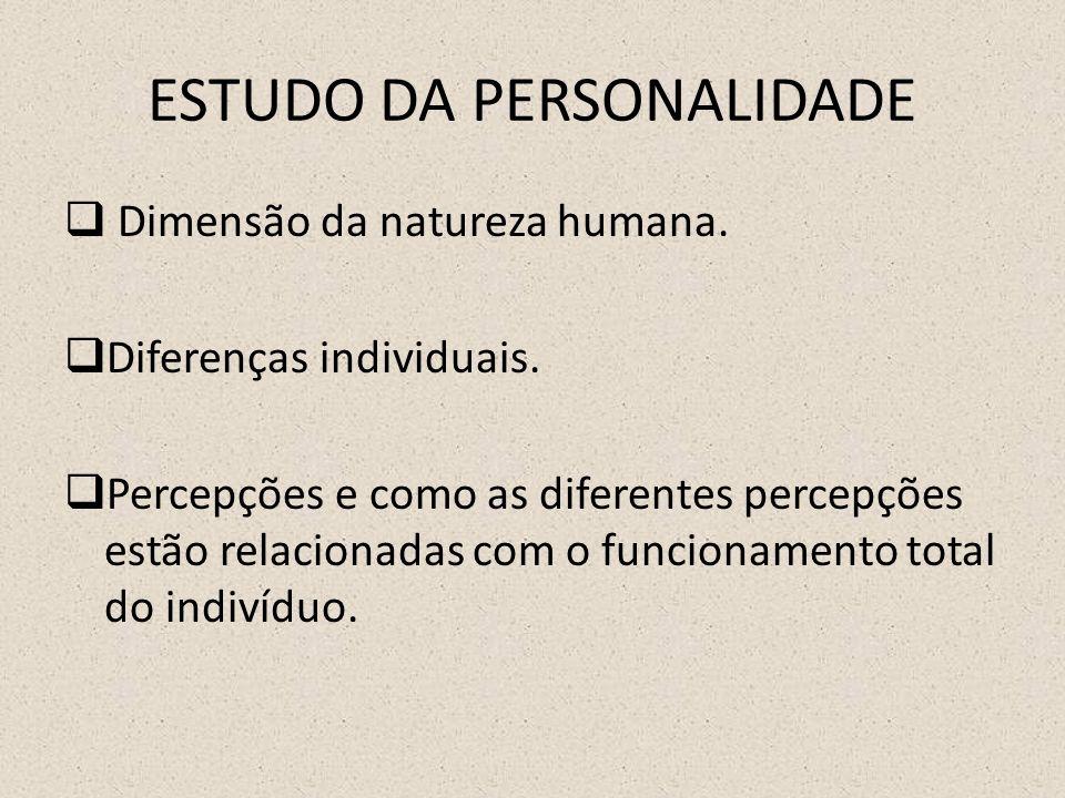 ESTUDO DA PERSONALIDADE