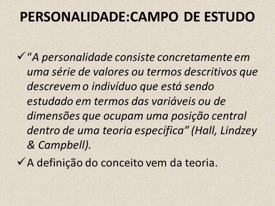 PERSONALIDADE:CAMPO DE ESTUDO