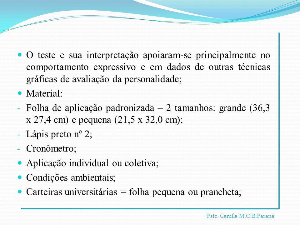 Aplicação individual ou coletiva; Condições ambientais;