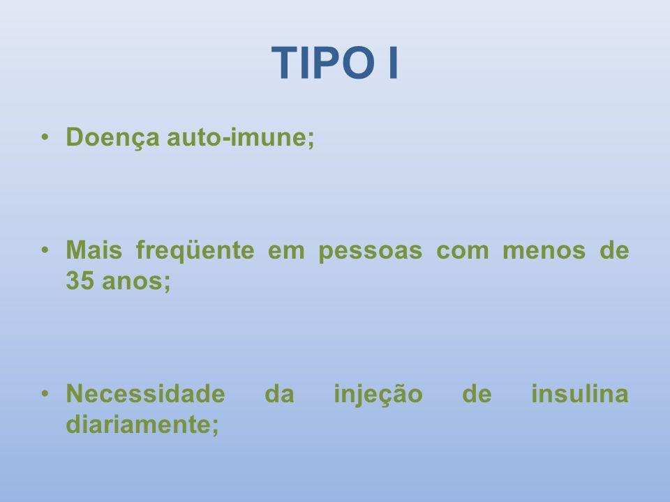 TIPO I Doença auto-imune;