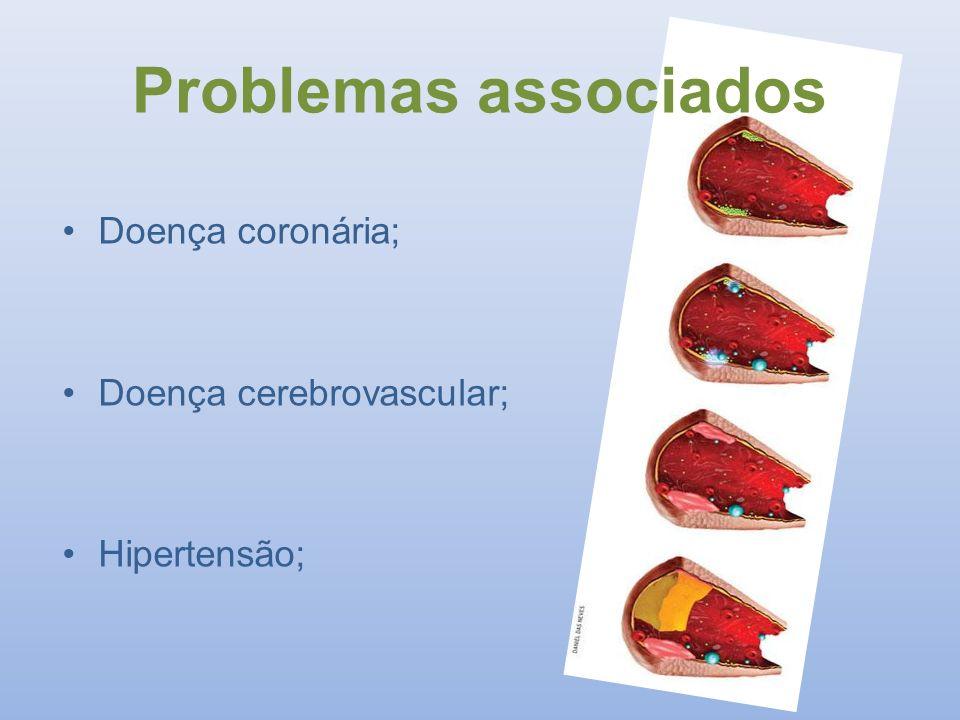 Problemas associados Doença coronária; Doença cerebrovascular;