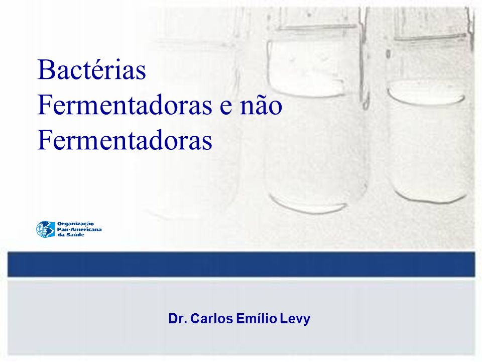 Bactérias Fermentadoras e não Fermentadoras