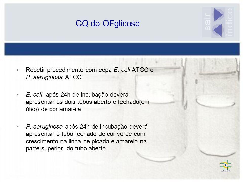 índice sair CQ do OFglicose